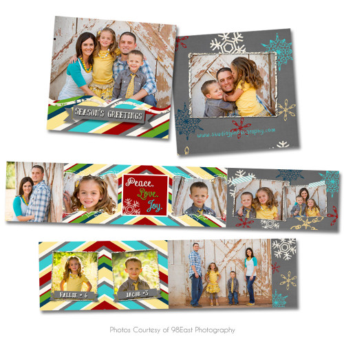 Chalky Christmas 3x3 Accordion Book