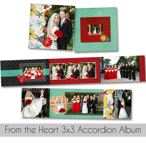 From The Heart 3x3 Accordion Book
