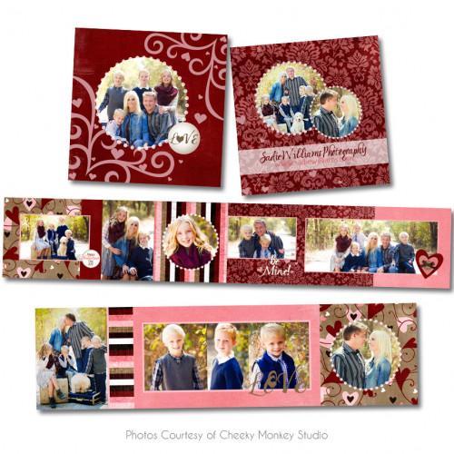 Love Struck 3x3 Accordion Book - Accordion Books - PicVantage