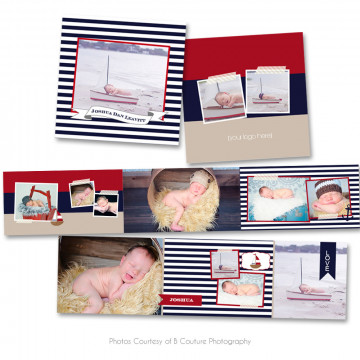 Nautical 3x3 Accordion Book