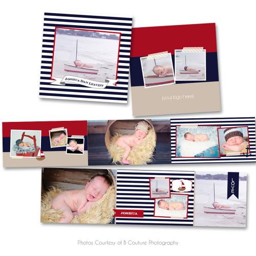Nautical 3x3 Accordion Book