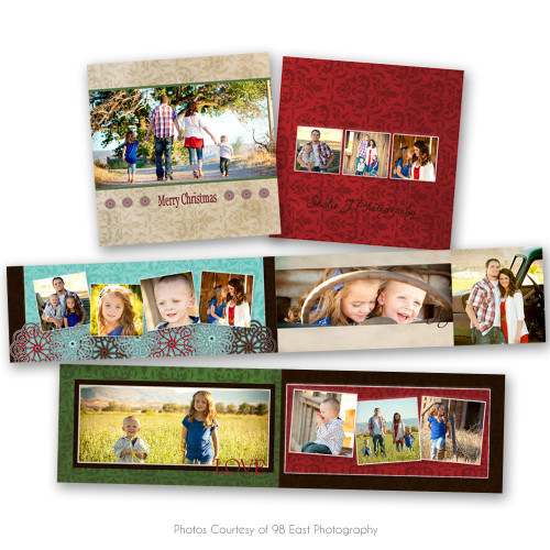 Rustic Christmas 3x3 Accordion Book
