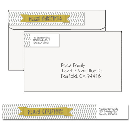 Modern Christmas Address Label 2