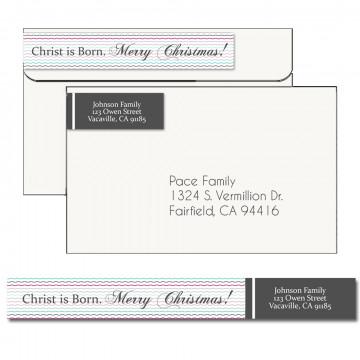 Rejoice Christmas Address Label 2