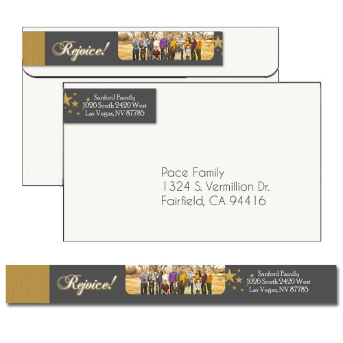 Rejoice Christmas Address Label 4