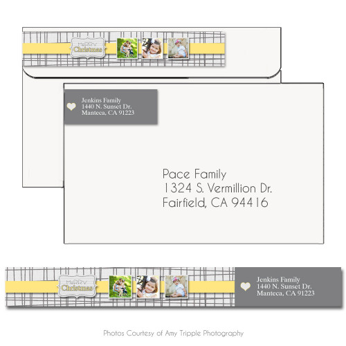 Silver And Gold Address Label 1