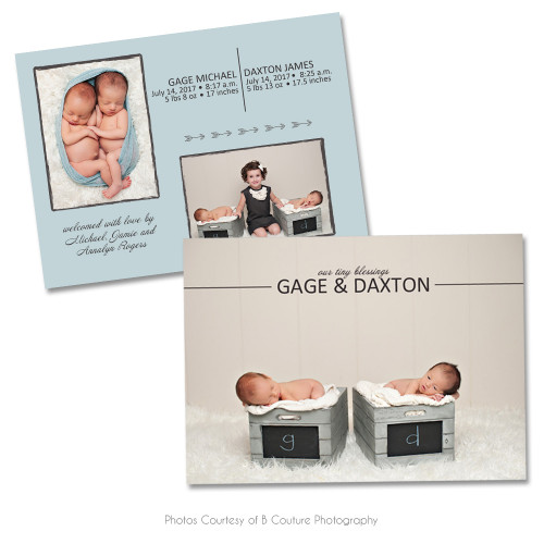 Bundle Of Joy Birth Announcement 2