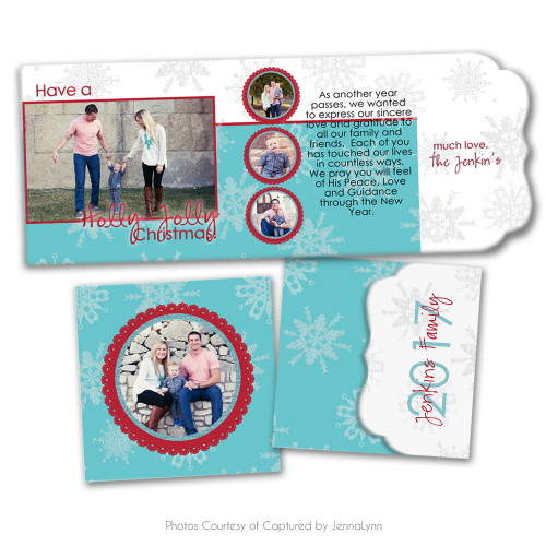 Holly Jolly Folded Luxe Card 1