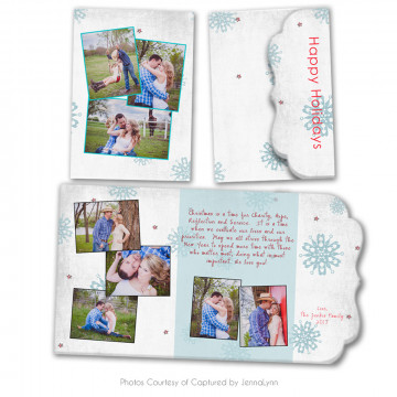 Holly Jolly Folded Luxe Card 3