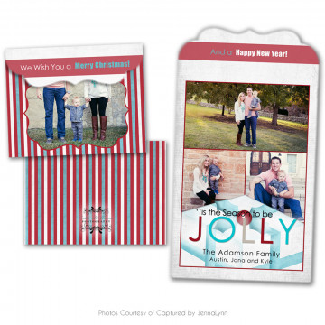 Holly Jolly Folded Luxe Card 4