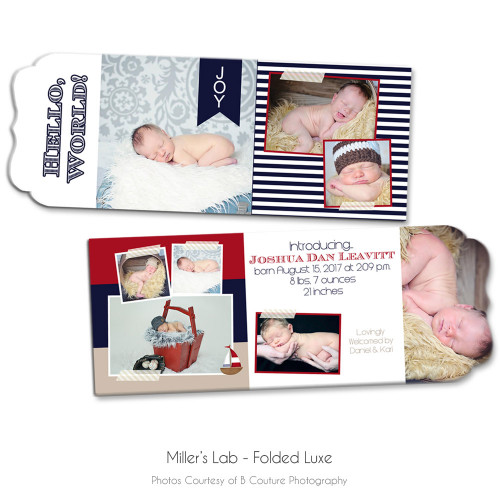 Nautical Luxe Birth Announcement 1