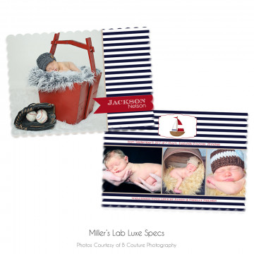 Nautical Luxe Birth Announcement 2