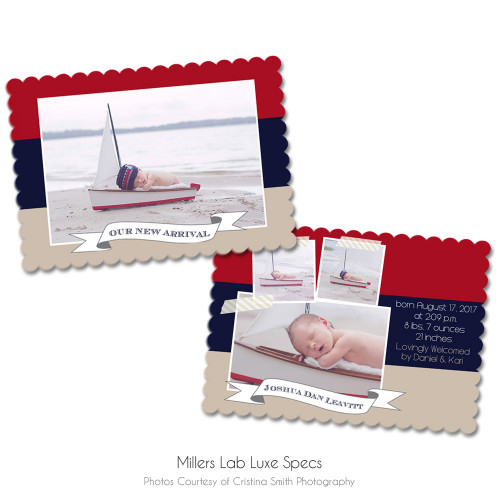 Nautical Luxe Birth Announcement 3